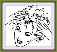 se laver les cheveux avec les poudres de plantes